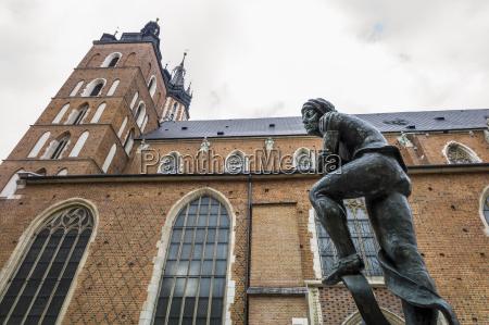 poland krakow view of church of