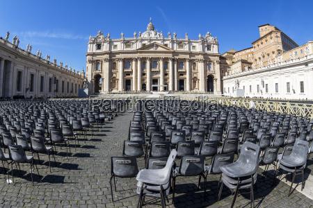 italien rom petersdom vorbereitung auf eine