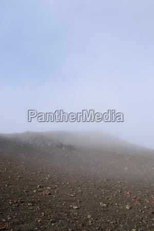 usa hawaii maui haleakala nebel im