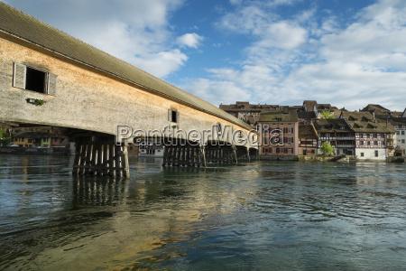 germany baden wuerttemberg historic wooden bridge