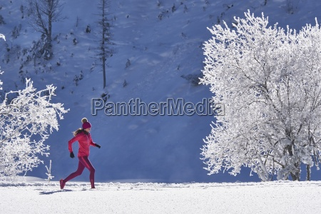 austria tyrol riss valley woman jogging