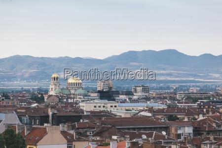bulgaria sofia view to alexander nevsky