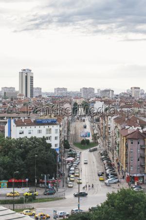 bulgaria sofia cityview view to boulevard