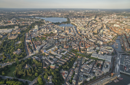 germany hamburg aerial view of mitte