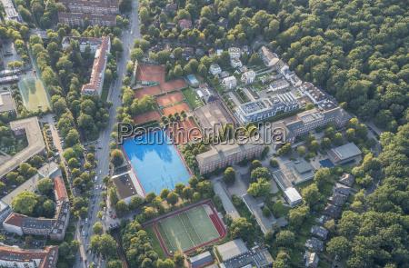 germany hamburg aerial view of hamburg
