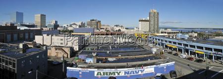 usa alaska view over downtown anchorage