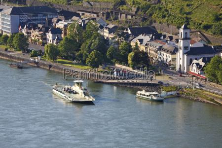 germany rhineland palatinate sankt goarshausen ferry