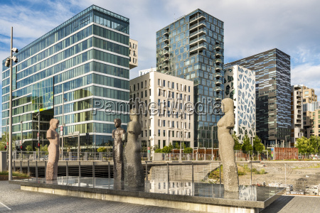 norwegen oslo bjorvika moderne kunst barcode