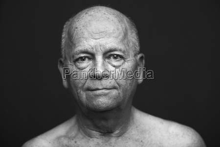 portrait of an old man with
