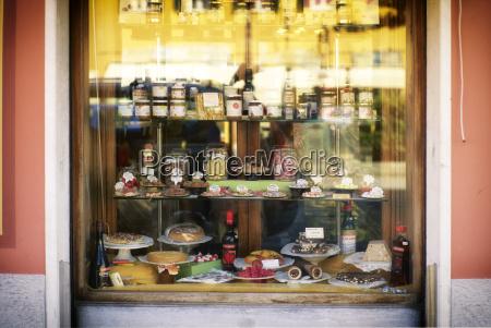 italien ligurien riva trigoso schaufenster eines