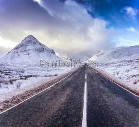 uk scotland glencoe a92 road in