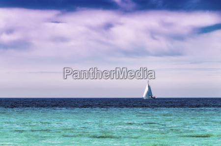 spain menorca son bou sailing boat