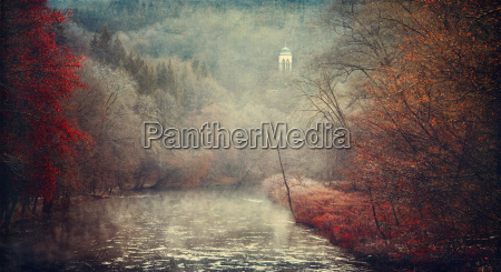 germany solingen wupper river in autumn