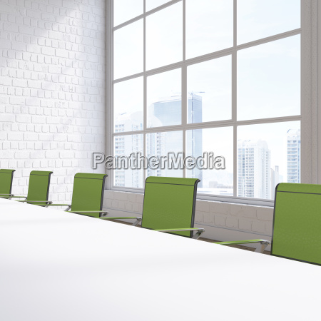empty conference room with view at