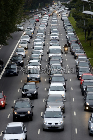 brazil sao paulo traffic jam on