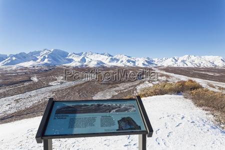 usa alaska view of alaska range
