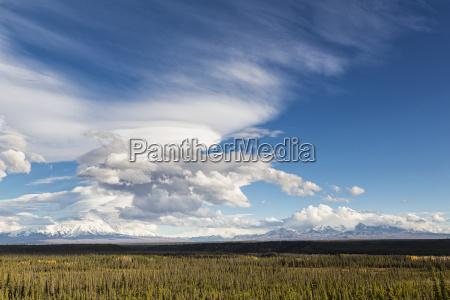 usa alaska view of mount sanford