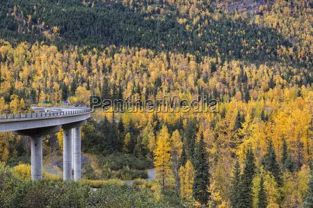 usa alaska bridge over six mile