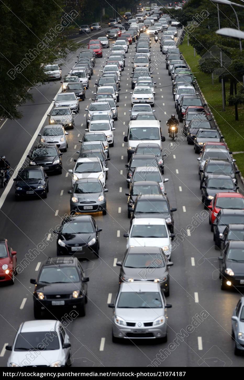 brasilien, sao, paulo, stau, auf, autobahn - 21074187
