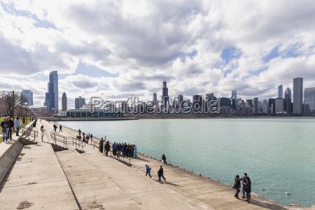 usa illinois chicago view of trail
