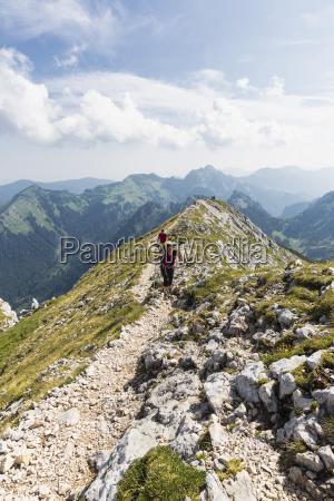 deutschland bayern ammergauer alpen blick auf