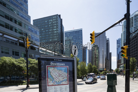canada british columbia vancouver streetmap of