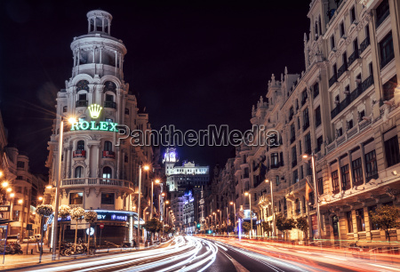 spanien madrid ansicht von gran via