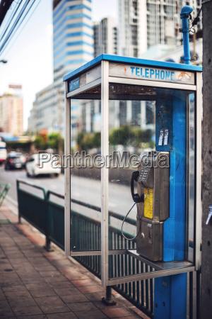 thailand bangkok schmutziger telefonstiefel