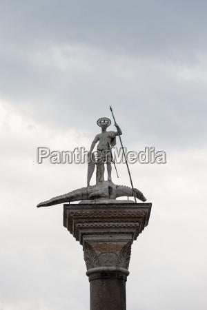stadt statue wolke skulptur venedig outdoor
