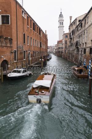 italy veneto venice boats on canal
