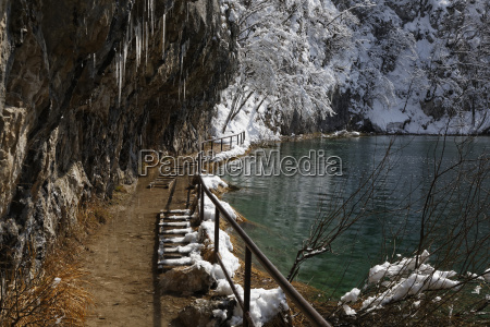 croatia view of plitvice lakes national