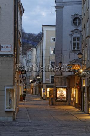 austria salzburg old town view of