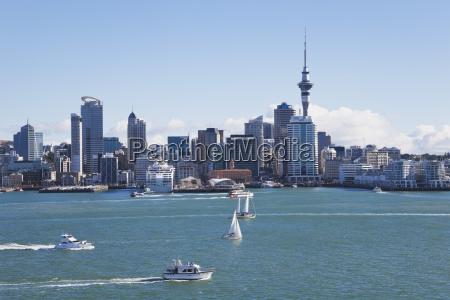 neuseeland auckland blick auf die stadt
