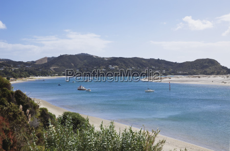 new zealand view of mangawhai harbour