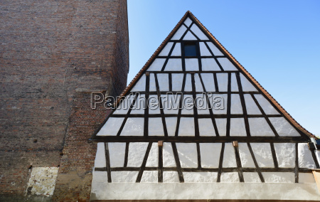 germany bavaria fuerth half timbered house