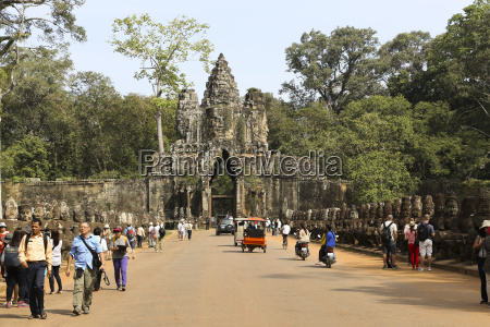 kambodscha tempel in angkor thom