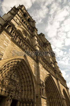 france paris entrance portal of notre