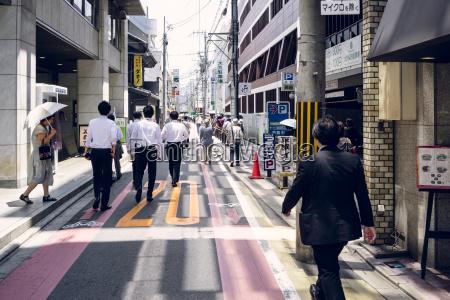japan kyoto strassenleben