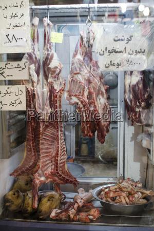 iran isfahan schaffleisch beim metzger auf