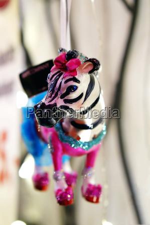 zebra as christmas decoration