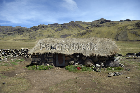 peru quispillacts traditional stone house in