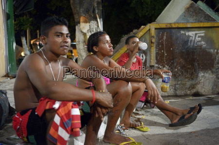 brazil fortaleza three street children on