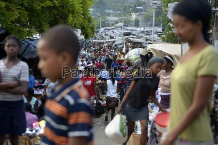 haiti port au prince people at