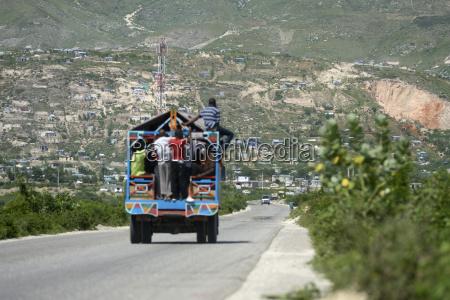 haiti port au prince arbeiter auf