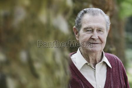 germany cologne portrait of senior man