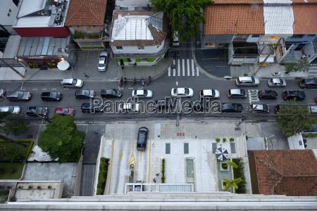 brasilien, sao, paulo, itaim, bibi, rush-stunden-verkehr, auf, einer, strecke, blick - 21084669