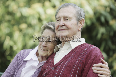 germany cologne senior couple sitting in