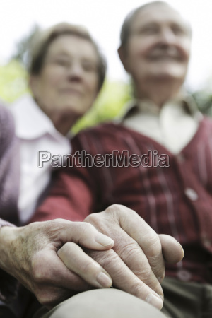 germany cologne senior couple holding hands