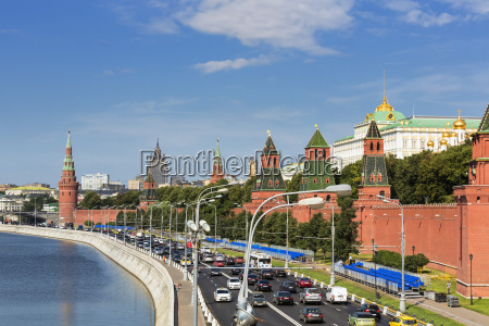 russia moscow river moskva street and