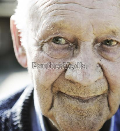 germany portrait of senior man close